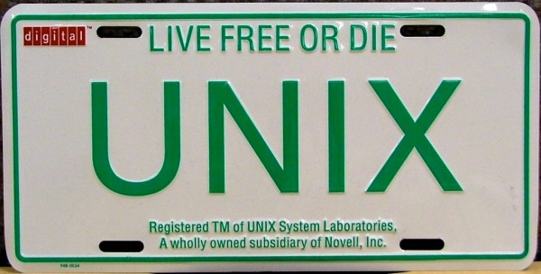 UNIX-Licence-Plate