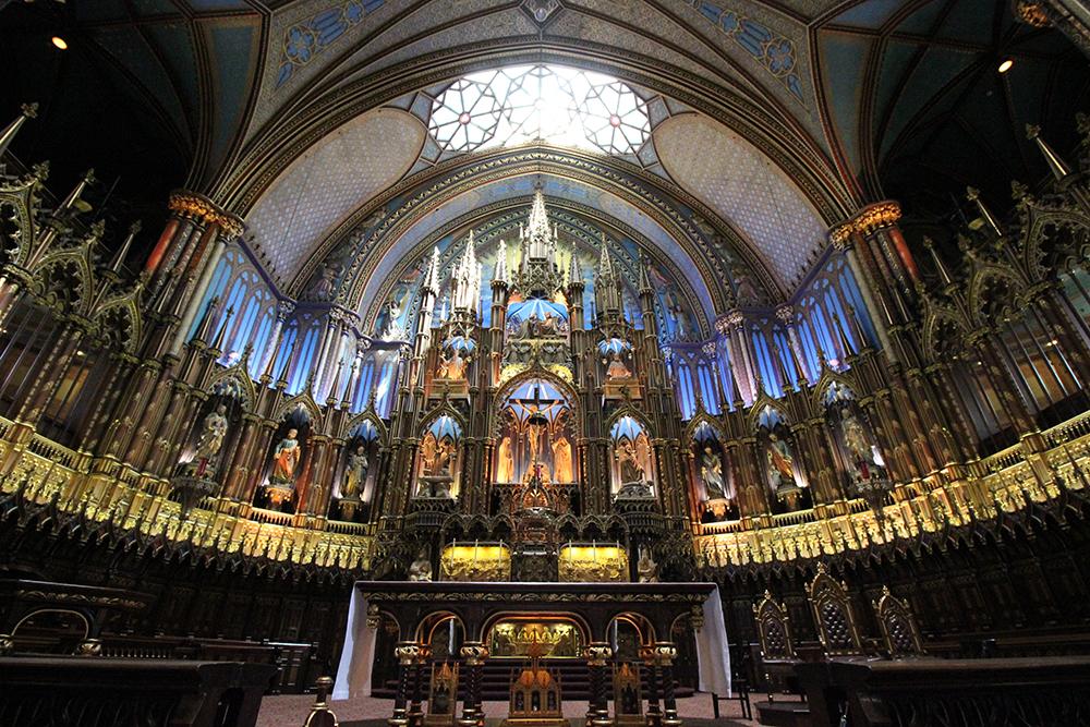 カナダモントリオール「ノートルダム聖堂」